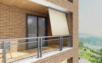 HC Home & Living Alu-Sonnenrollo ca. 3 x 1,5 m Creme