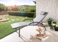 HC Home & Living Aluminium Sonnenliege Grau
