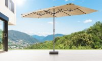 XXL Oval-Sonnenschirm 460 x 270 cm Natur