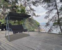 HC Home & Living Hollywoodschaukel 3-Sitzer Schwarz