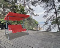 HC Home & Living Hollywoodschaukel 3-Sitzer Rot