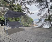 HC Home & Living Hollywoodschaukel 3-Sitzer Anthrazit