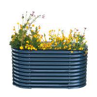 Powertec Garden Stahl Oval Hochbeet - Anthrazit