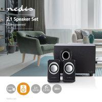 Nedis PC Lautsprecher 2.1 , 33W Speaker Multimedia Boxen...